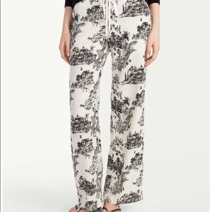 Tommy Bahama Ivory/Black Toile linen pants 14